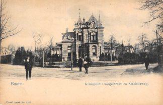 Ansichtkaart Baarn Kruispunt Oranjestraat en Stationsweg Vivat No. 4469 HC19171