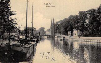 Ansichtkaart Sneek Bothniakade Binnenvaart schepen 1911 hc19177