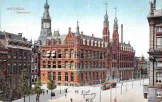 Ansichtkaart Amsterdam Postkantoor Tram 1908 HC19219