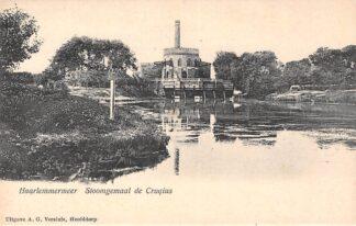 Ansichtkaart Hoofddorp Stoom gemaal de Cruqius Haarlemmermeer 1900 HC19232