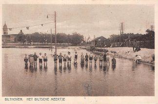 Ansichtkaart Bilthoven Het Biltsche Meertje 1928 Zwembad Kerk HC19244