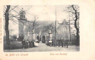 Ansichtkaart De Bilt n/b Utrecht Kerk met Kerkhof 1901 Begraafplaats HC19364