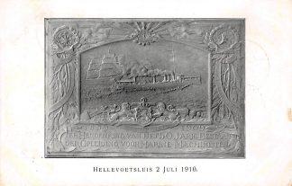 Ansichtkaart Hellevoetsluis 1910 Herdenking 50 jarig bestaan der opleiding voor Marine machinsten HC19429