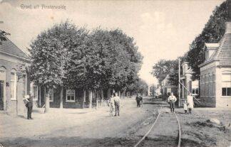 Ansichtkaart Finsterwolde Dorp Tram spoor Oldambt Groningen HC19433