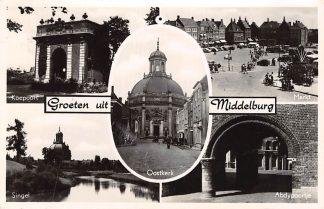 Ansichtkaart Middelburg Groeten uit 1951 HC19435