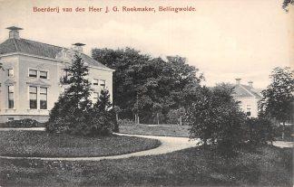 Ansichtkaart Bellingwolde Boerderij van den heer J.G. Rookmaker Westerwold Groningen HC19447