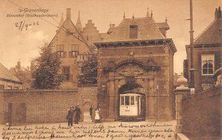 Ansichtkaart 's-Gravenhage Binnenhof Stadhouderspoort met HTM Tram 565 1912 HC19452