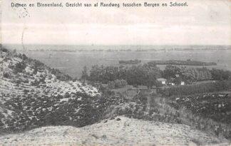 Ansichtkaart Bergen (NH) en Schoorl Duinen en binnenland van af Randweg tusschen B ergen en Schoorl 1912 HC19464