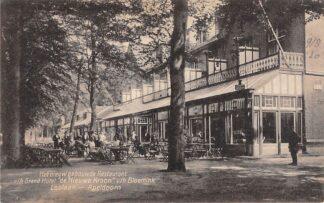 Ansichtkaart Apeldoorn Reclame Het nieuwe gebouwde Restaurant v/h Grand Hotel de Nieuwe Kroon v/h Bloemink Loolaan HC19468