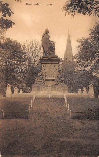 Ansichtkaart Amsterdam Vondel Monument HC19483