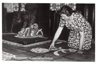 Ansichtkaart Schoonebeek Het maken van Zandtapijt HC19527