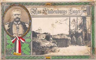 Ansichtkaart Duitsland Aus Hindenburgs Lager WO1 1914-1918 Militair Fotokaart Deutschland Europa HC19542
