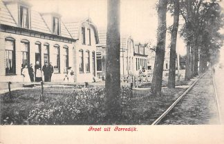 Ansichtkaart Gorredijk Groet uit Tramspoor Opsterland HC19551