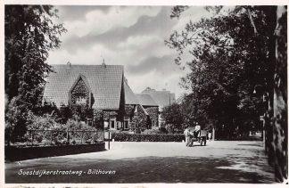 Ansichtkaart Bilthoven Soestdijkerstraatweg met paard en wagen 1949 HC19587