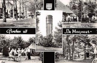 Ansichtkaart Bilthoven Groeten uit De Magneet Gereformeerd Jeugdkamp Julianalaan Kamp Kampwinkel Watertoren 1950 HC19610