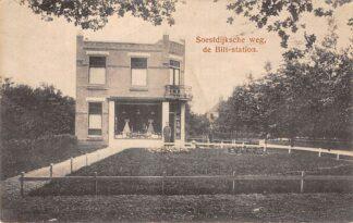 Ansichtkaart De Bilt Soestdijksche weg de Bilt-station Kruidenier Winkel HC19757