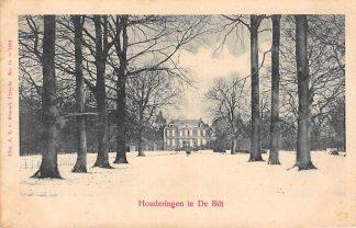 Ansichtkaart De Bilt Huize Houdringe in de winter in de sneeuw 1900 HC19762