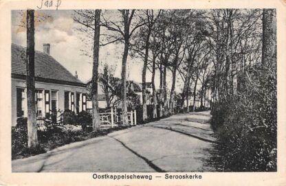 Ansichtkaart Serooskerke Ostkappelscheweg Veere Walcheren HC19820