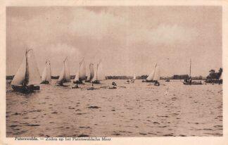 Ansichtkaart Paterswolde Zeilen op het Paterswoldsche Meer Zeilschepen 1930 HC19843