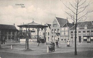 Ansichtkaart IJzendijke Markt Hotel Portedor 1915 Sluis Zeeuws-Vlaanderen HC19849