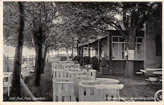 Ansichtkaart Muiderberg aan Zee Badlaan Café Restaurant Flora Speeltuin 1937 HC19857