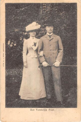 Ansichtkaart Koninklijk Huis Het Vorstelijk Paar Koningin Wilhelmina en Prins Hendrik HC19943