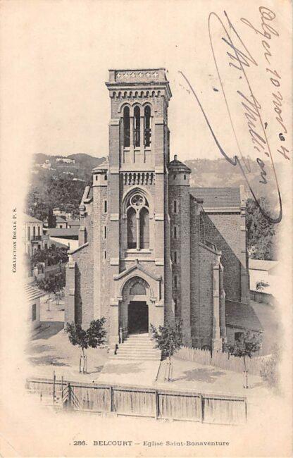 Ansichtkaart Algerije Alger Belcourt Eglise Saint- Bonaventura 1904 Afrika  HC19945