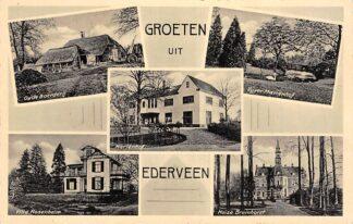 Ansichtkaart Ederveen Groeten uit 1939 Oude Boerderij Marienhof Vijver Villa Huize Bruinhorst Rosenheim HC19991
