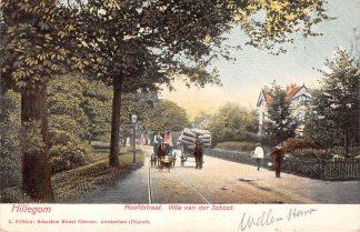 Ansichtkaart Hillegom Hoofdstraat Villa van der Schoot 1905 Paard en wagen Tramspoor HC20003