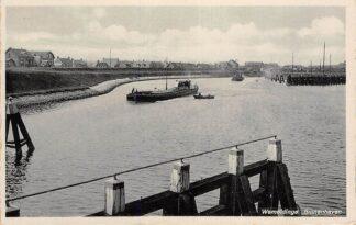 Ansichtkaart Wemeldinge Binnenhaven met binnenvaart schepen Scheepvaart 1937 Kapelle Zuid-Beveland HC20007