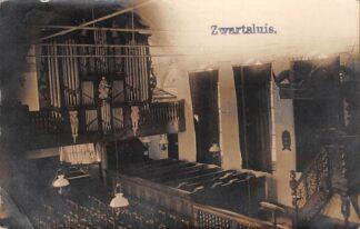Ansichtkaart Zwartsluis Fotokaart Interieur Orgel Nederlands Hervormde Kerk 1917 HC20015