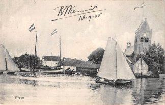 Ansichtkaart Grouw Binnenvaart schepen Zeilen Scheepvaart 1908 HC20031