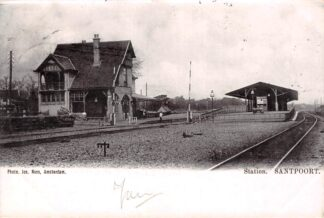 Ansichtkaart Santpoort Station 1902 Velsen Spoorwegen HC20038