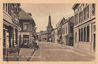 Ansichtkaart Barneveld Jan van Schaffelaarstraat Nederlandsche Middenstands Bank 1950 HC20039