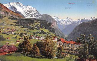 Ansichtkaart Zwitserland Wengen Schweiz Suisse Switzerland Europa HC20052