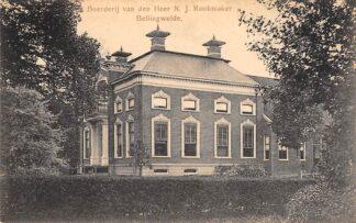 Ansichtkaart Bellingwolde Boerderij van den Heer N.J. Rookmaker Westerwold Groningen HC20056