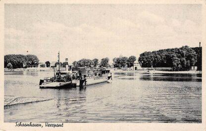 Ansichtkaart Schoonhoven Veerpont 1943 Binnenvaart schepen Scheepvaart Veer HC20082