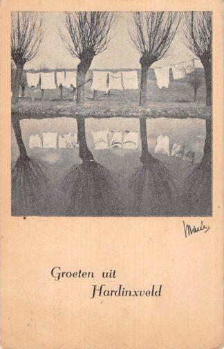 Ansichtkaart Hardinxveld - Giessendam Groeten uit 1946 HC20089