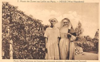 Ansichtkaart Zuid-Afrika Missiën der zusters van Liefde van Maria Heule West-Vlaanderen Moeder Marie-Prudentienne met Elisabeth haar toekomende postulante Doornspruit Transvaal Afrika Africa België HC20179