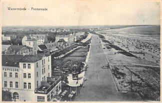Ansichtkaart Duitsland Warnemunde Promenade Deutschland Europa HC20194