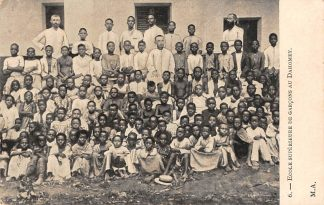 Ansichtkaart Benin Danxcomé Ecole Superieure de garçons au Dahomey België Afrika HC20238