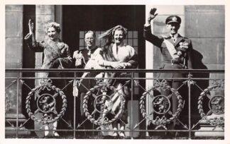 Ansichtkaart Koningshuis Bezoek Deens vorstelijk paar aan Amsterdam 26 April 1954 Denemarken Danmark Europa HC20264