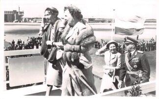 Ansichtkaart Koningshuis Aankomst Luxemburgse Vorsten op Schiphol 5 juni 1956 Vliegveld Luchtvaart HC20269
