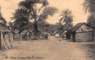 Ansichtkaart Congo Belge Village Indigene chez les Baketes HC20300