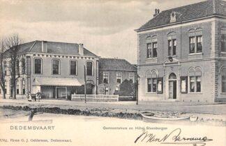 Ansichtkaart Dedemsvaart Gemeentehuis en Hotel Steenbergen HC20357