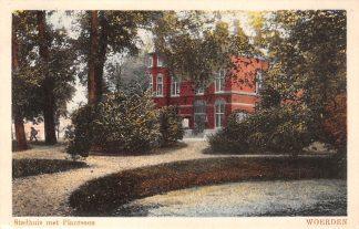 Ansichtkaart Woerden Stadhuis met Plantsoen 1929 HC20373