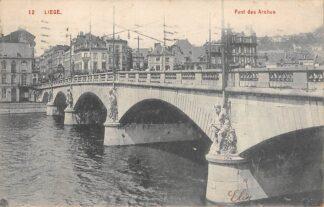 Ansichtkaart België Liège Luik Pont des Arches 1908 Europa HC20388