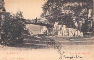 Ansichtkaart Maastricht Brug in het Stadspark 1901 HC20444