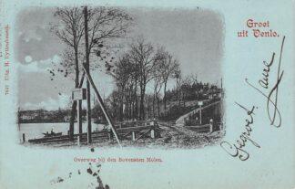 Ansichtkaart Venlo Overweg bij den Bovensten Molen 1901 Spoorwegen HC20463