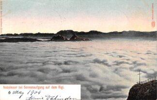 Ansichtkaart Zwitserland Weggis Nebelmeer bei Sonnenaufgang auf dem Rigi 1904 Schweiz Switzerland Suisse Europa HC20466